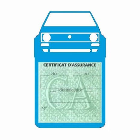 Porte vignette voiture Golf1 Volkswagen bleu clair