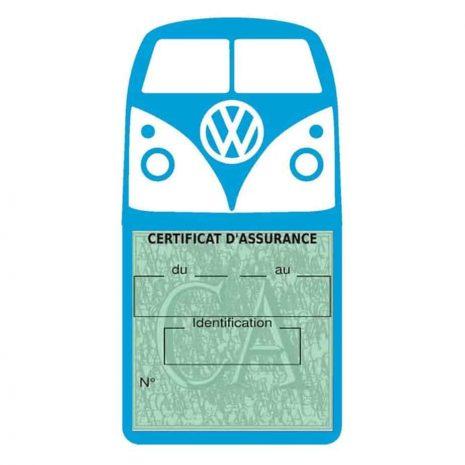 Vignette assurance Volkswagen Kombi T1 Split bleu clair
