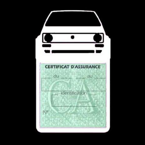 Porte vignette voiture Golf1 Volkswagen blanc