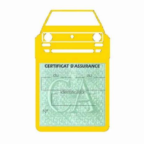 Porte vignette voiture Golf1 Volkswagen jaune