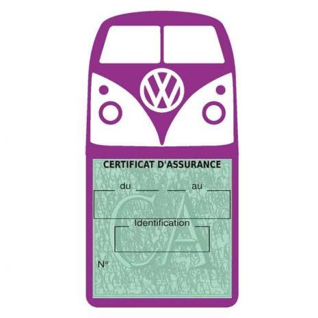 Vignette assurance Volkswagen Kombi T1 Split mauve