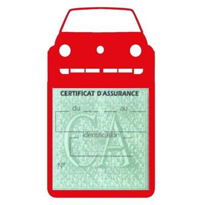 Golf II vignette assurance voiture Volkswagen rouge