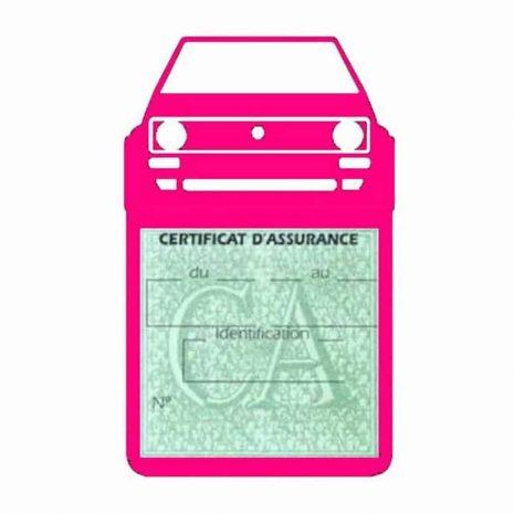 Porte vignette voiture Golf1 Volkswagen rose