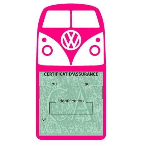 Vignette assurance Volkswagen Kombi T1 Split rose