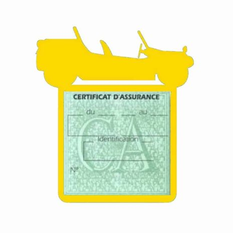 Porte assurance auto Volkswagen Buggy jaune
