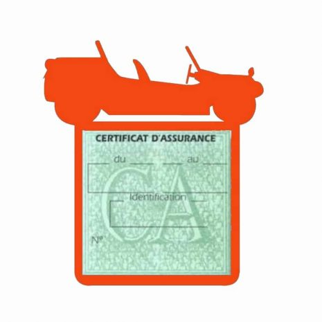 Porte assurance auto Volkswagen Buggy orange