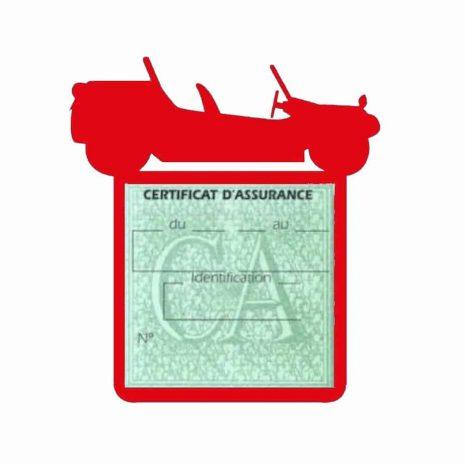 Porte assurance auto Volkswagen Buggy rouge