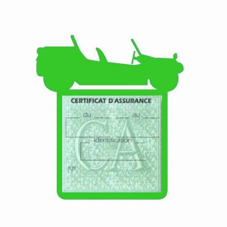 Porte assurance auto Volkswagen Buggy vert clair