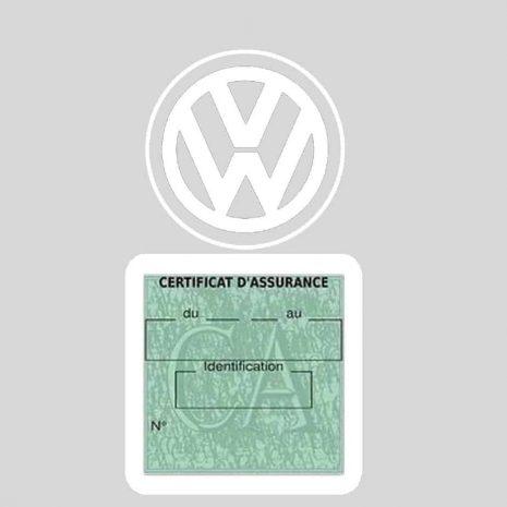 VOLKSWAGEN pochette étui assurance voiture VW blanc