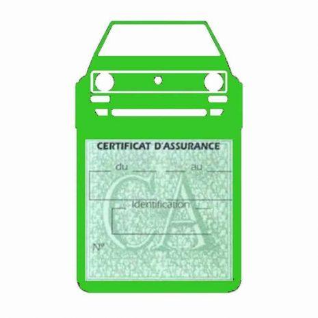 Porte vignette voiture Golf1 Volkswagen vert clair
