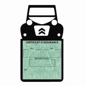 Porte étui vignette assurance Citroën 2CV