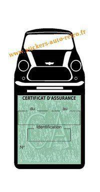 Stickers porte étui auto assurance Mini Cooper BMW