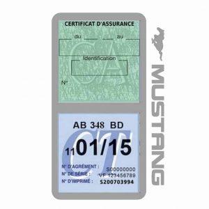 Double porte vignette assurance Ford Mustang gris