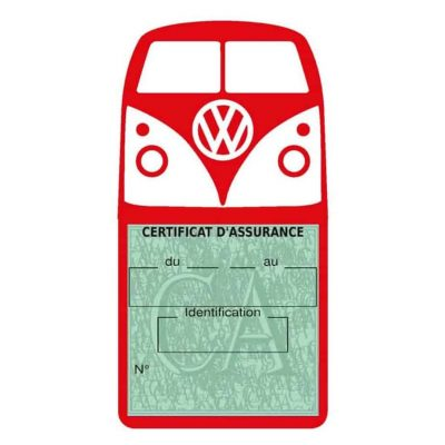 Vignette assurance Volkswagen Kombi T1 Split rouge