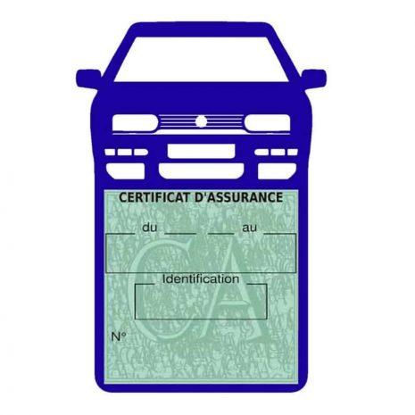 Golf 3 vignette assurance voiture Volkswagen bleu foncé