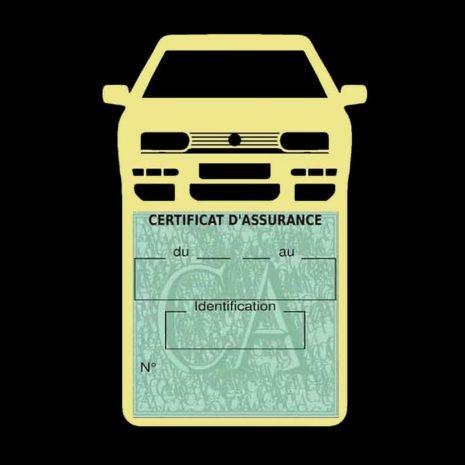Golf 3 vignette assurance voiture Volkswagen beige