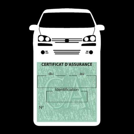 GOLF 6 Vignette assurance voiture Volkswagen blanc clair