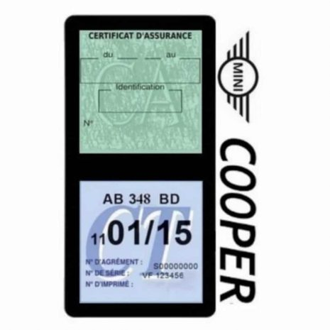 Porte assurance Mini Cooper double vignette