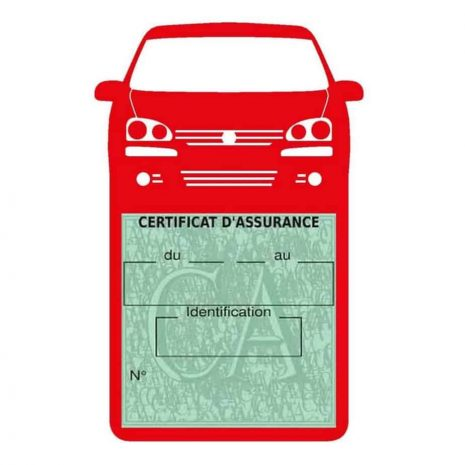 GOLF 6 Vignette assurance voiture Volkswagen rouge