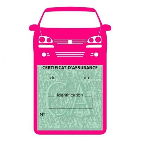 GOLF 6 Vignette assurance voiture Volkswagen rose