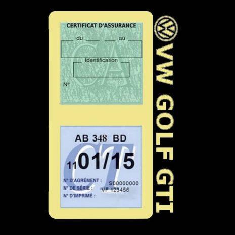 GOLF GTI vignette assurance Volkswagen beige