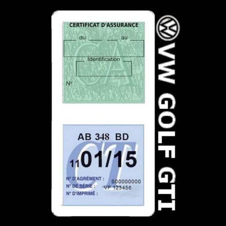 GOLF GTI vignette assurance Volkswagen blanc