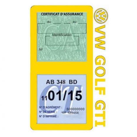 GOLF GTI vignette assurance Volkswagen jaune