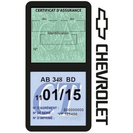 étui assurance voiture Chevrolet double pochette