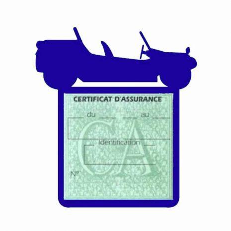 Porte assurance auto Volkswagen Buggy bleu foncé
