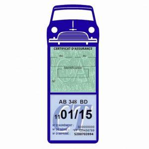 Mini Cooper Austin 1000 vignette assurance voiture bleu foncé