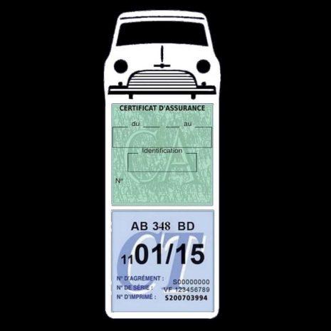 Mini Cooper Austin 1000 vignette assurance voiture blanc