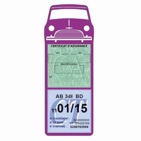 Mini Cooper Austin 1000 vignette assurance voiture mauve