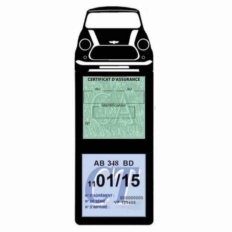 Mini Cooper BMW étui assurance auto méga noir