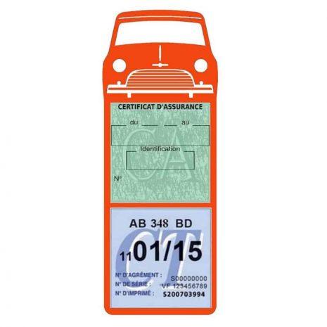 Mini Cooper Austin 1000 vignette assurance voiture orange