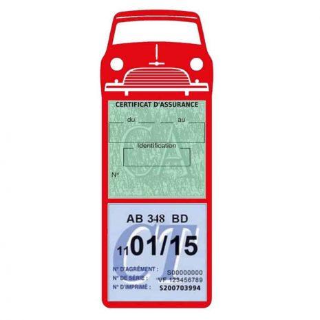 Mini Cooper Austin 1000 vignette assurance voiture rouge