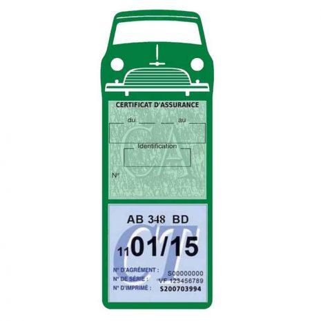 Mini Cooper Austin 1000 vignette assurance voiture vert foncé