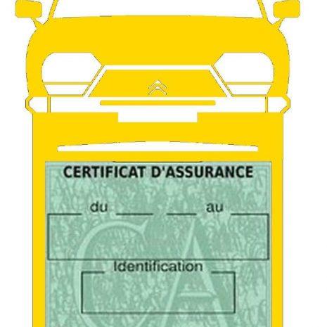 Porte étui vignette assurance Citroen GSA