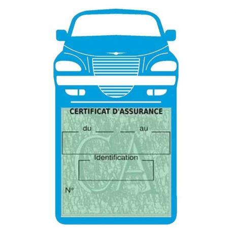 Etui assurance voiture PT Cruiser Chrysler bleu clair