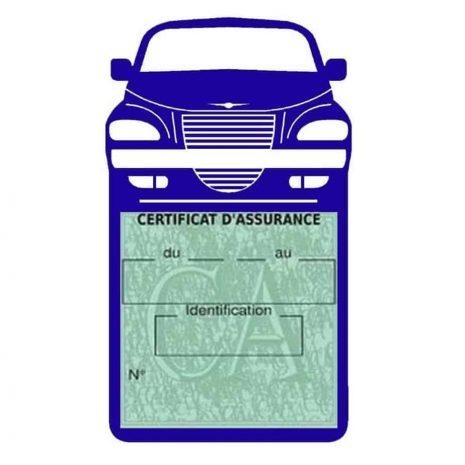 Etui assurance voiture PT Cruiser Chrysler bleu foncé