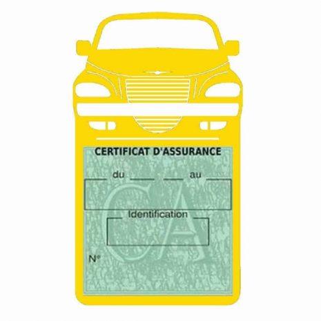 Etui assurance voiture PT Cruiser Chrysler jaune