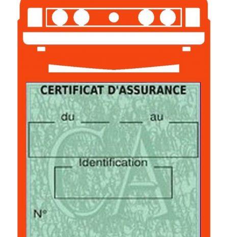 Porte vignette assurance auto Scirocco Volkswagen orange
