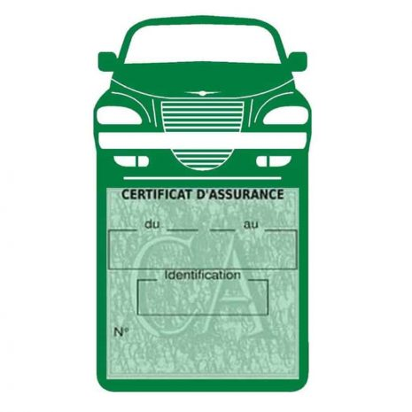 Etui assurance voiture PT Cruiser Chrysler vert foncé