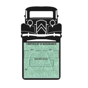 Porte assurance voiture Traction Citroën