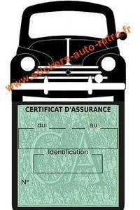 Porte assurance voiture 4CV Renault