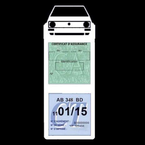 Vignette assurance golf 1 Volkswagen étui méga blanc