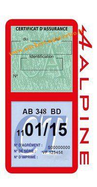 Porte double étui assurance voiture Alpine Renault