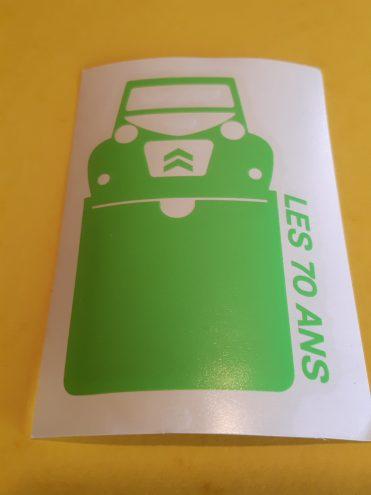 Etui vignette assurance voiture Les 70 Ans 2cv Citroën