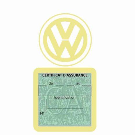 VOLKSWAGEN pochette étui assurance voiture VW beige