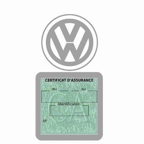 VOLKSWAGEN pochette étui assurance voiture VW gris