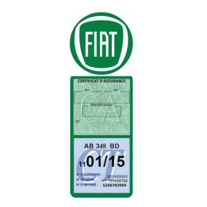 Porte assurance méga Fiat logo voiture